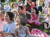 kids laughing at park