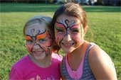 Girls with faces painted
