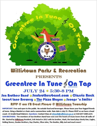 Greentree Park Party Flier