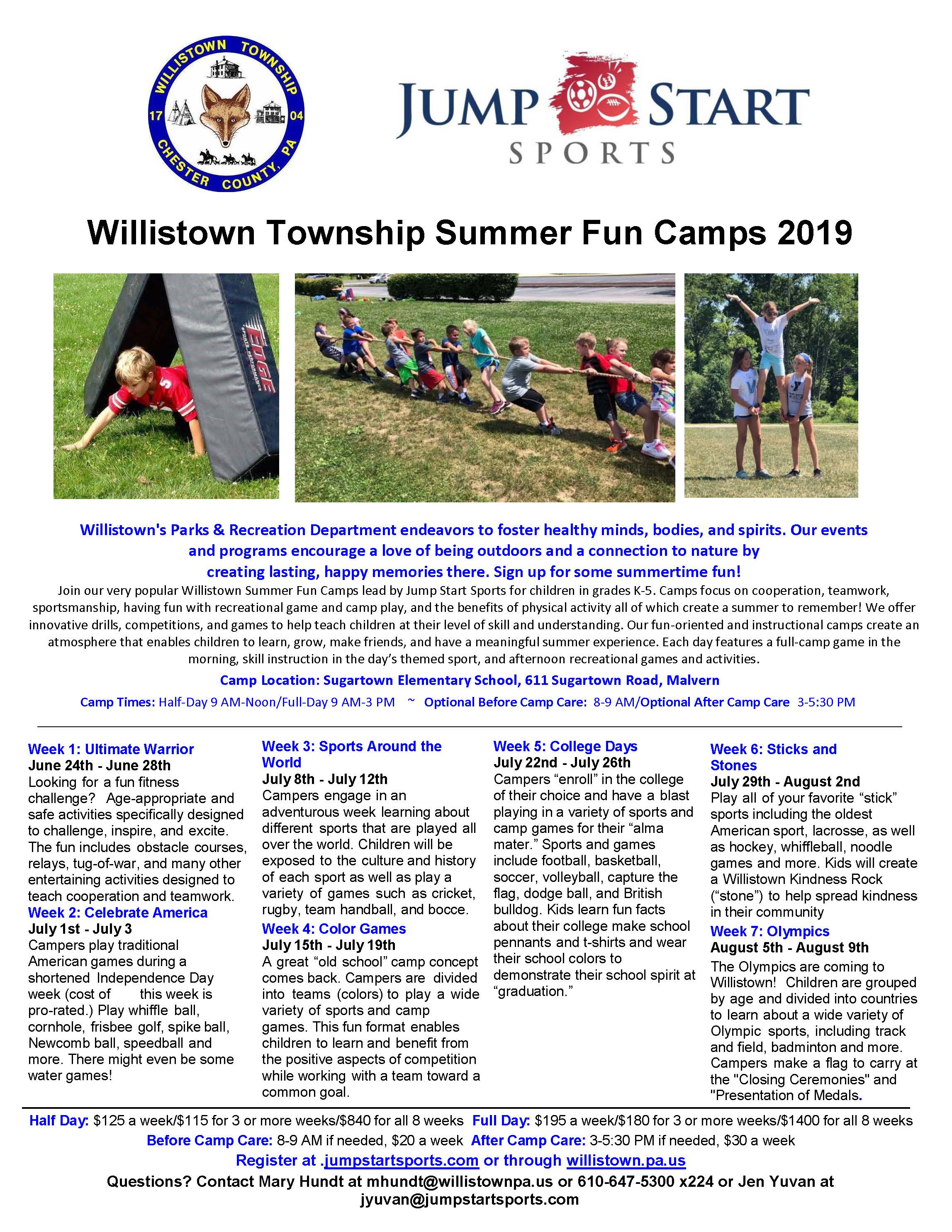 Willistown Summer Camp 2019